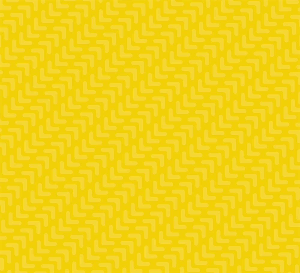 Yellow pattern of tire treds